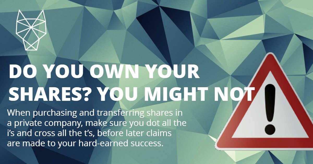 DO YOU OWN YOUR SHARES?
