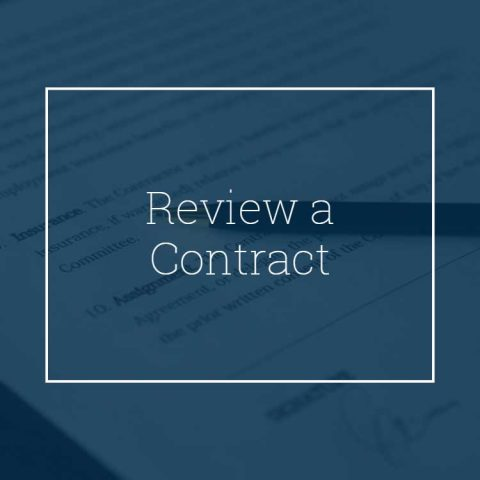 Review a Contract