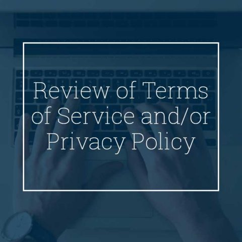Review of Terms of Service and/or Privacy Policy