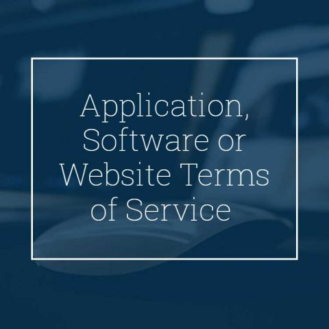 Application, Software or Website Terms of Service