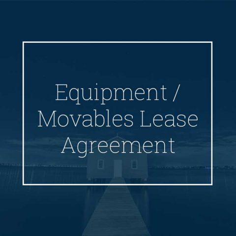 Equipment / Movables Lease Agreement