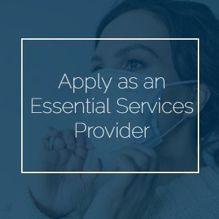 Apply as an Essential Services Provider