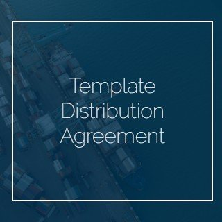 Template Distribution Agreement